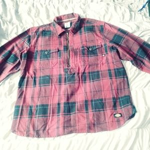 Dickies half zipper long sleeve think shirt